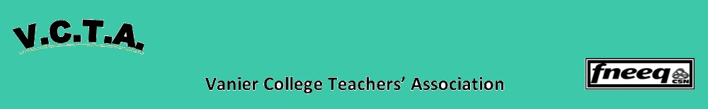 The VCTA – Vanier College Teachers Association